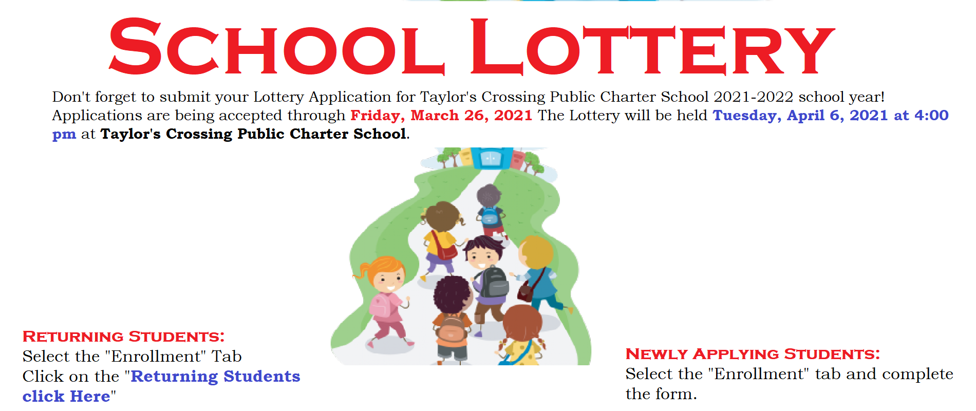 School Lottery Inforamtion