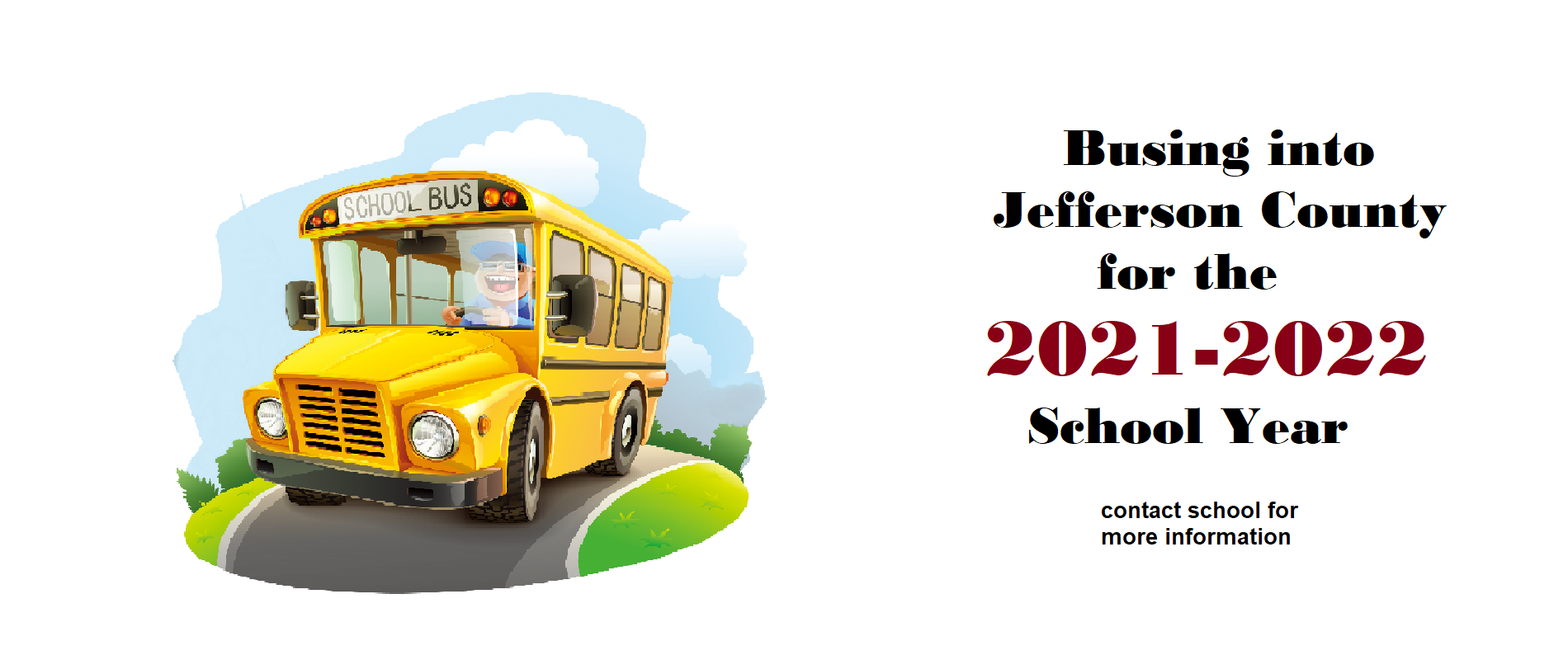 busing into Jefferson County starting 2021-2022 school year